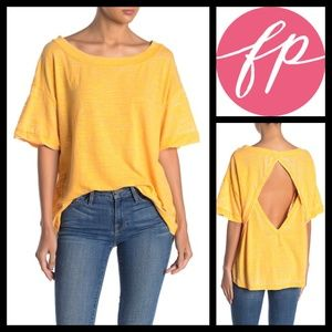 Free People Viola Cutout Back Burnout Top NWT